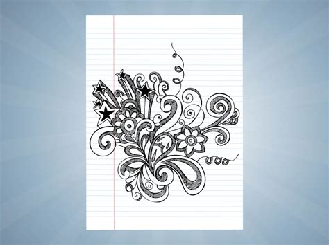 notebook drawings vector vector art graphics