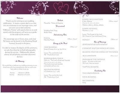 wording for wedding program traditional catholic mass weddings etiquette and advice