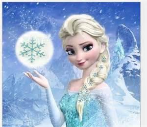 Snowflake Frozen Elsa Hair