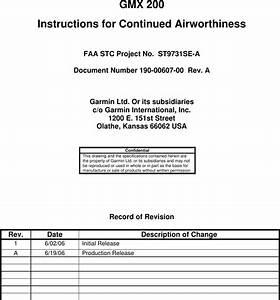 Garmin Part 23 Stc Sa01692se Instruction Manual 190 00607