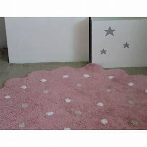 tapis enfant lavable rond rose a pois lorena canals ma With tapis rose enfant