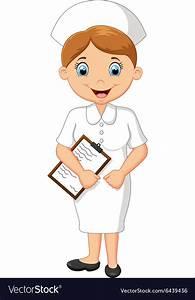 Cartoon Smiling Nurse Holding Clipboard Royalty Free Vector