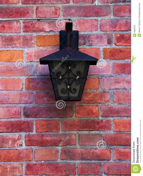 street l on a brick wall royalty free stock image