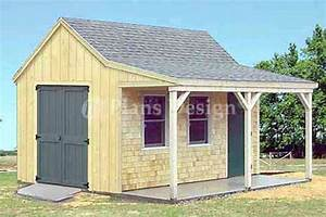 12' x 16' Cottage / Cabin Shed With Porch Plans #81216 eBay