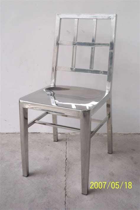 stainless steel dining chair finishing the kitchen