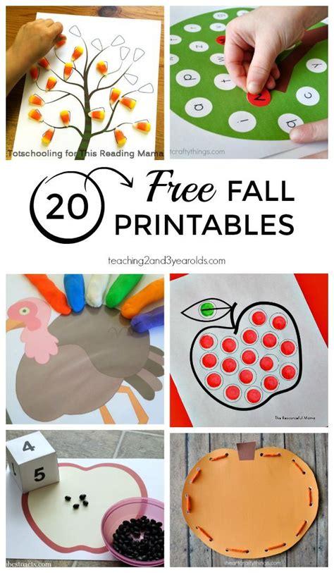 20 free fall printables preschoolers 2 year olds 328 | cd4db032bbbbff3cabdc7846ec1b6153