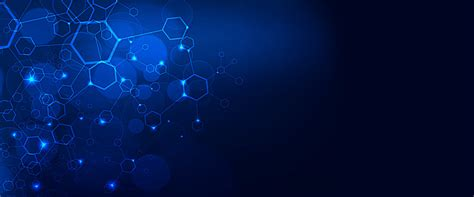 Blue Science Technology Background, Light, Space, Abstract