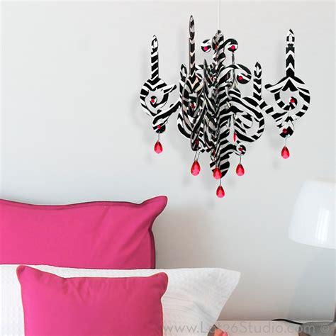 zebra print chandelier zebra print diy chandelier home decor home