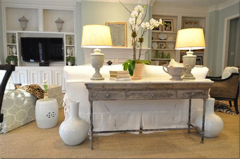 Decorating Sofa Table Behind Couch Decorating Console