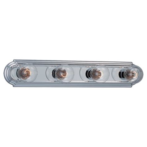 Home Depot Canada Bathroom Vanity Lights by Sea Gull Lighting 4 Light Chrome Incandescent Bathroom