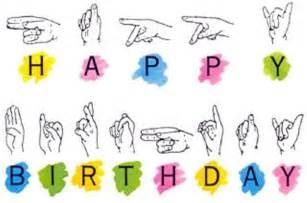 Happy Birthday Sign Language