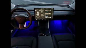 Installing your TESLA Model 3 Colored LED Interior Lighting Upgrade Kit - YouTube