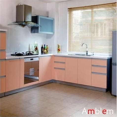 kitchen cabinets l shaped l shape melamine kitchen cabinet m02 amblem china 6175