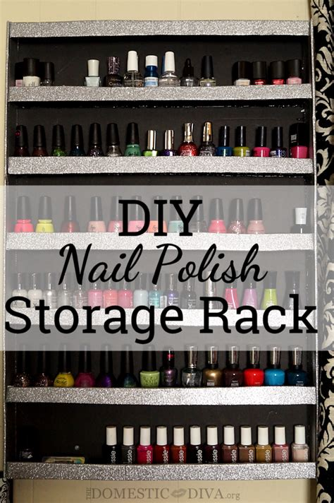 diy nail polish wall storage rack  domestic diva