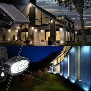moderne led solarleuchte mit bewegungsmelder lampen With französischer balkon mit leuchten garten