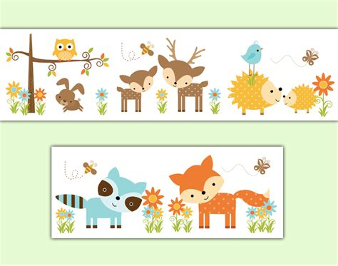 Animal Frame Wallpaper - woodland nursery forest animals wallpaper border wall