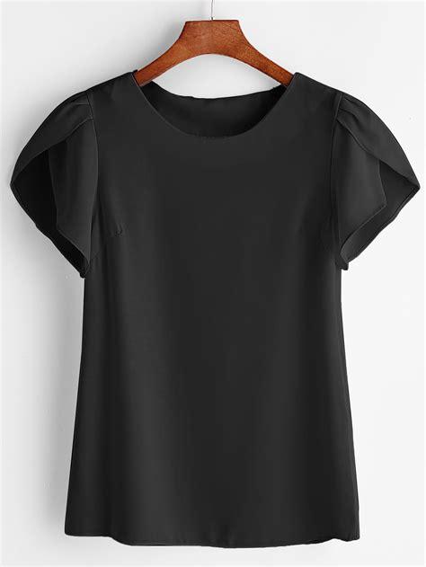 petal sleeve chiffon top petal sleeve chiffon blouse