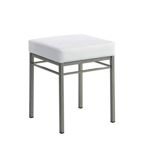 tabouret bas de cuisine en m 233 tal et synth 233 tique quadra 4 pieds tables chaises et tabourets
