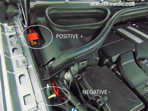 jump start  mercedes benz    battery