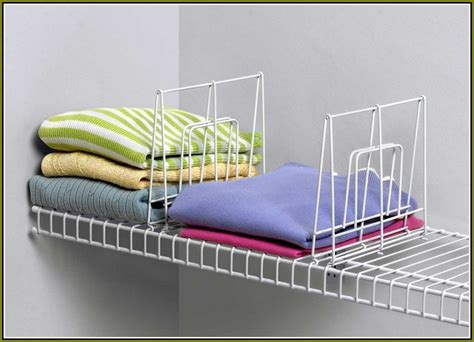 closet shelf dividers for wood shelves home design ideas