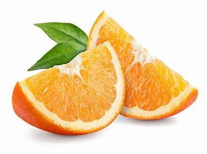 Orange Fruit Slices Slice Transparent Background Leaves