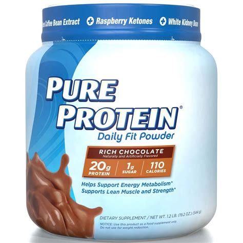 Amazon.com: Pure Protein Daily Fit Powder, Rich Chocolate