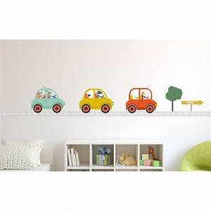 stunning chambre garcon voiture bleu ideas design trends With stickers voiture pour chambre garcon