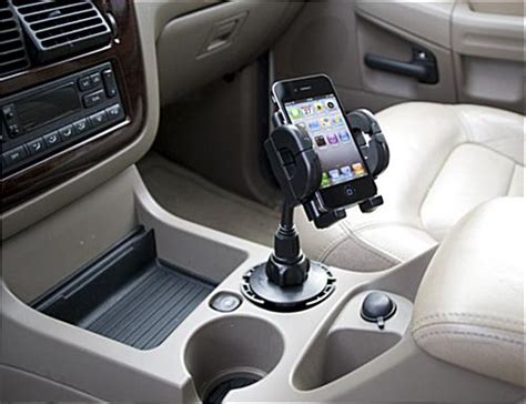 cell phone cup holder mount portable vehicle dock