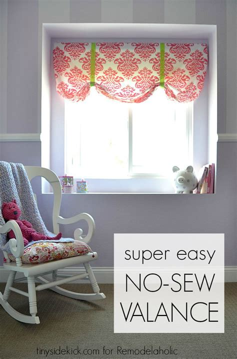 how to make valances remodelaholic easy no sew window valance from a crib sheet