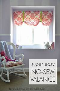 how to make a window valance Remodelaholic | Easy No Sew Window Valance from a Crib Sheet