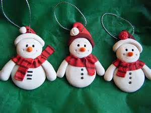 items similar to set of 3 made to order handmade sculpey clay snowmen ornaments set of 3 on etsy