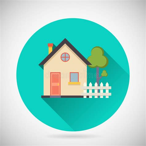 Real Estate Symbol House Building Private Property Stock ...