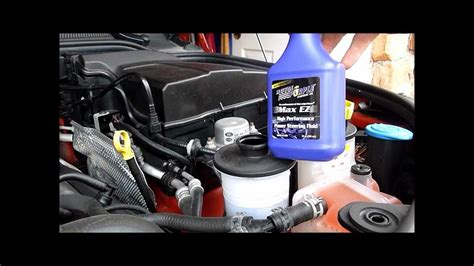 discovery lr power steering fluid change youtube