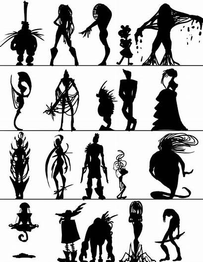 Silhouettes Character Weird Designs End Thumbnail Towards