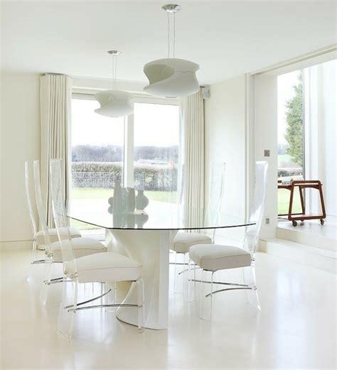 chaise en verre transparente meubles salle à manger 87 idées sur l 39 aménagement réussi