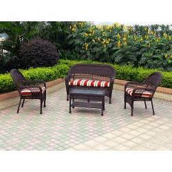 Better Homes And Gardens Wicker Patio Cushions by Grand Basket 4 Piece Wicker Patio Furniture Set Walmart Com