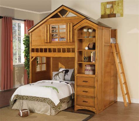 Treehouse Twin Loft Bed  Kids Furniture In Los Angeles