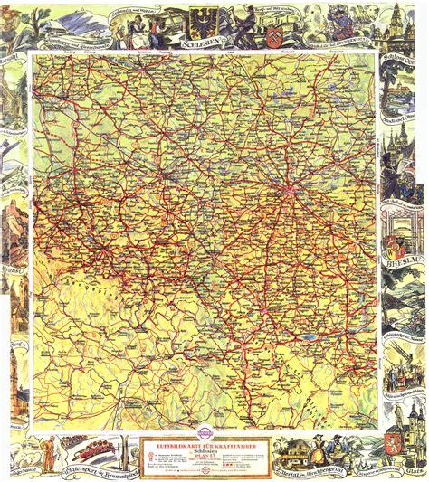 landkarte schlesien vor