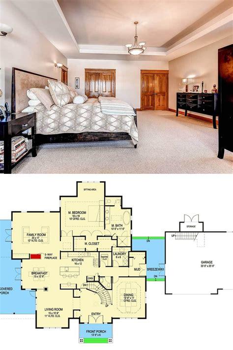 story  bedroom prairie craftsman home  garage loft floor plan loft floor plans