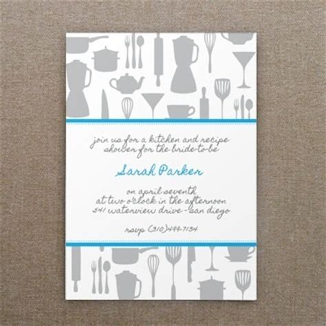 Bridal Kitchen Shower Invitations - invitation template kitchen bridal shower print