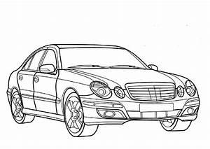 Coloriage Voiture Mercedes Dessin Gratuit  U00e0 Imprimer