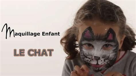 maquillage chat tutoriel maquillage enfant facile