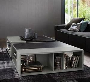 Couchtisch Glas Grau : design couchtisch holz buecher regale grau ~ Markanthonyermac.com Haus und Dekorationen