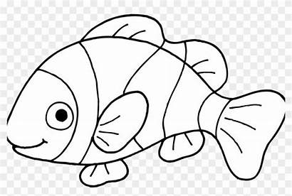 Fish Coloring Printable Clown Pages Cartoon Clipart