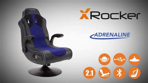x rocker adrenaline bluetooth gaming chair product