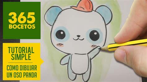 como dibujar un panda kawaii paso a paso dibujos kawaii faciles how to draw a panda