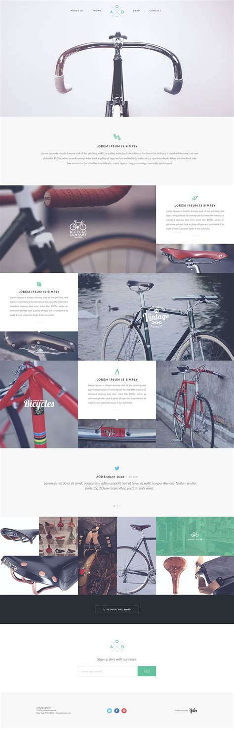 desarrollo web templat free one page psd template by yebo bicycle on para