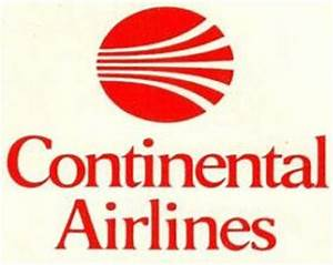 Continental Airlines Red Meatball Logo | Continental ...