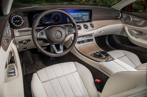 This sedan has an interior that boasts 2018 Mercedes-Benz E-Class Cabriolet Starts at $67,295 | Automobile Magazine