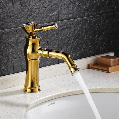Modern Gold Bathroom Faucets by Free Shipping Modern Gold Finish Brass Faucet Bathroom